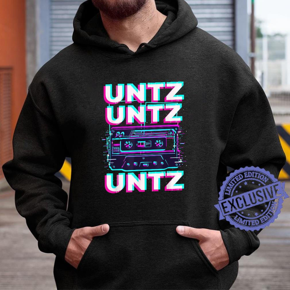 Aesthetic Synthwave Glitch Cassette Rave Festival Minimal Shirt hoodie