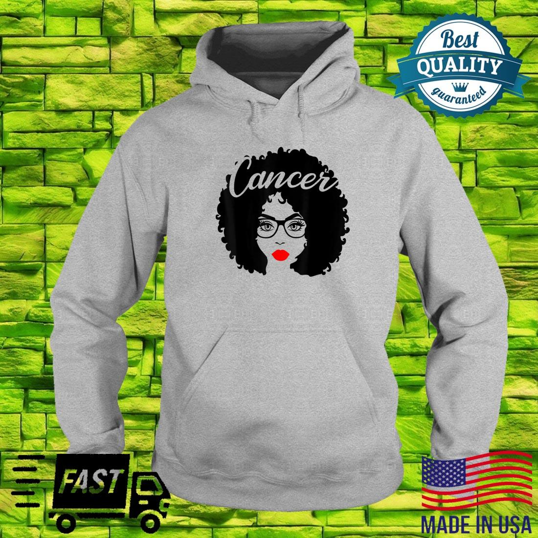 Black Queen Birthday Red Lips Afro Diva Cancer Zodiac Shirt hoodie