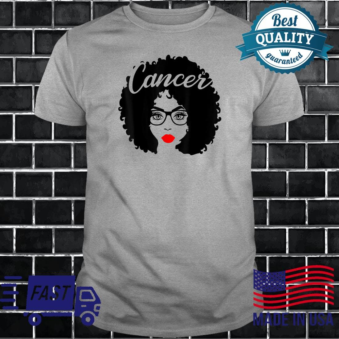 Black Queen Birthday Red Lips Afro Diva Cancer Zodiac Shirt long sleeved