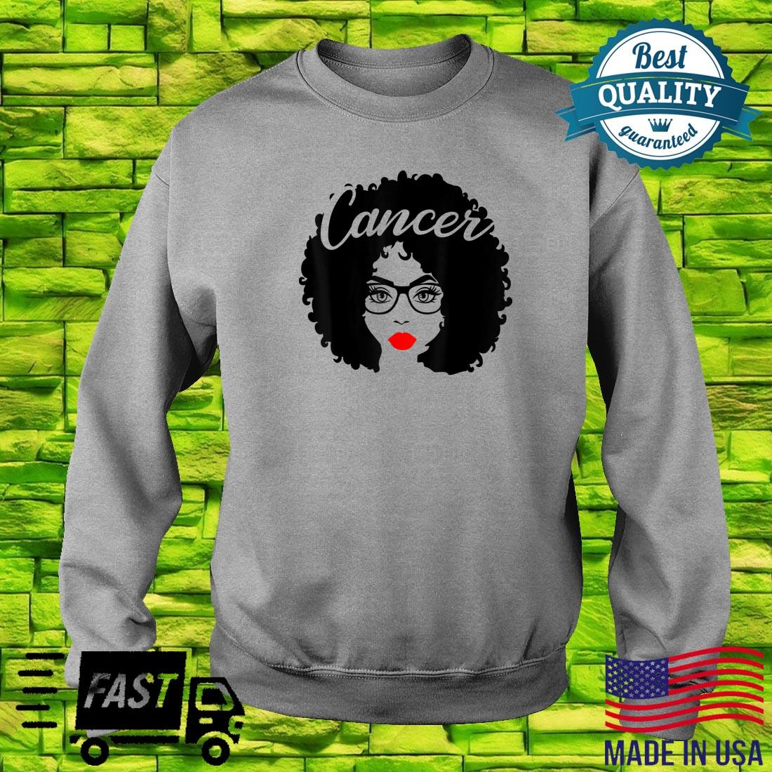 Black Queen Birthday Red Lips Afro Diva Cancer Zodiac Shirt sweater