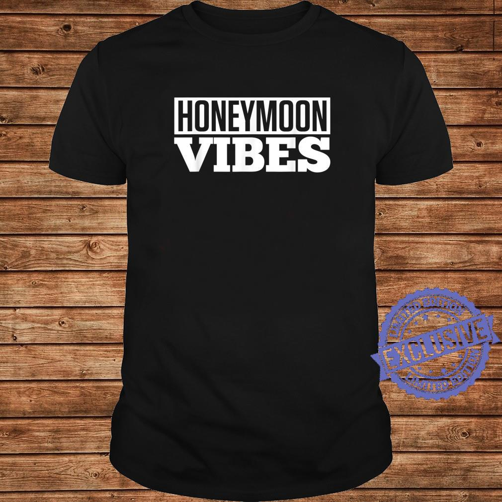 Honeymoon vibes white retro design for newly married couple Shirt long sleeved